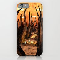 iPhone & iPod Case featuring Whiskers by Lee Grace Illustration
