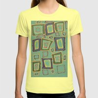 Newport Blue Womens Fitted Tee Lemon SMALL