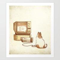 NES Cat  Art Print