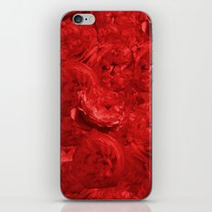Bed of fire red roses -floral pattern iPhone & iPod Skin