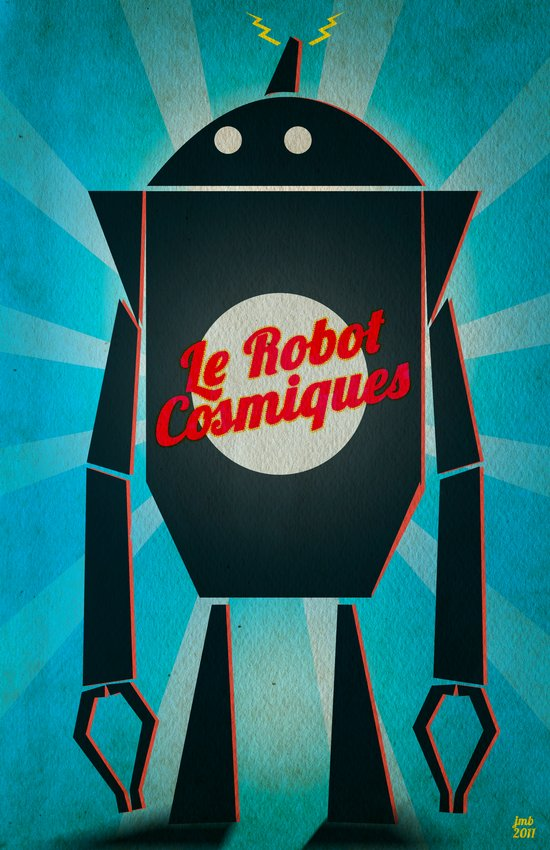 Le Robot Cosmiques Art Print