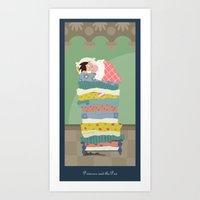 Art Print featuring Princess and the Pea by Alapapaju