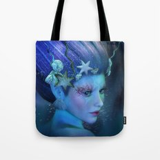 Mermaid Portrait Tote Bag