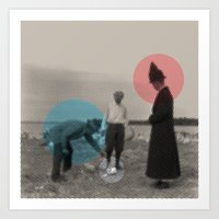 Blue Wins Red Stays In W… Art Print
