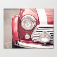 Red Mini Cooper Canvas Print