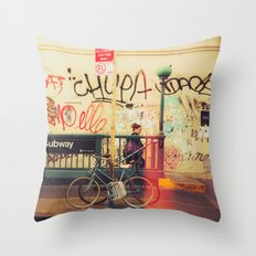 The Formerly Mean Streets of Williamsburg Throw Pillow