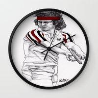 Tennis Mcenroe Wall Clock