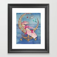 Princess Chibi Moon Framed Art Print
