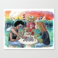 Mutant League Checkers Canvas Print