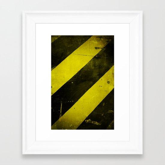 Warning II! Framed Art Print