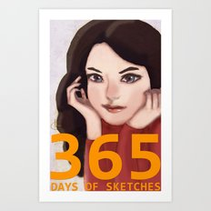 365 Days of Sketches: Number #140 Art Print