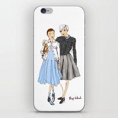 Prep School Girls fashion illustration  iPhone & iPod Skin