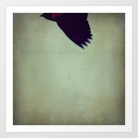 Flying In Art Print