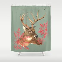 Forest Royalty, Stag, De… Shower Curtain