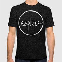 Explore Oregon Forest Mens Fitted Tee Tri-Black SMALL