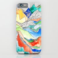 iPhone & iPod Case featuring Technicolor Mountains by Meirav Gebler