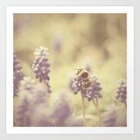 busy buzzy bumble bee ... Art Print