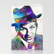Frank Sinatra Art - Old … Stationery Cards