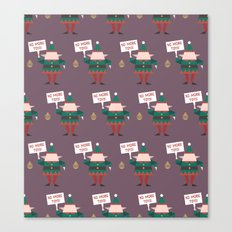 Day 23/25 Advent - Little Helpers on Strike Canvas Print
