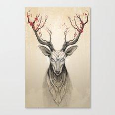 Deer Tree Canvas Print