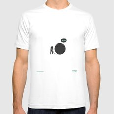 WTF? Golf SMALL Mens Fitted Tee White