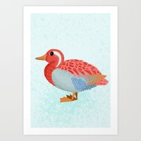 Orange Duck Art Print