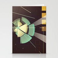 Digital Space Station Stationery Cards