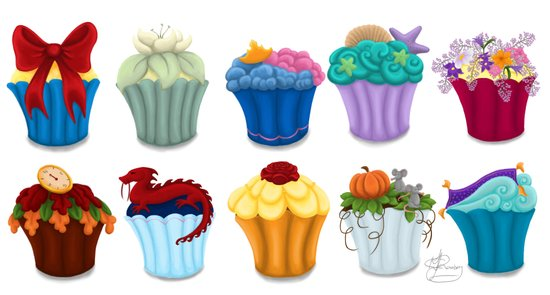 The Princess Cupcake Collection  Art Print