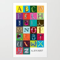 Hand Drawn Alphabet Art Print