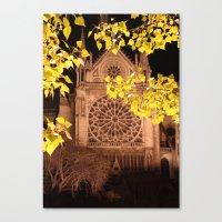 Midnight Blossoms Canvas Print