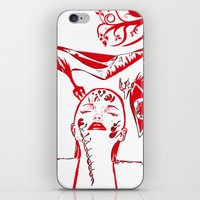 Abstract Woman iPhone & iPod Skin