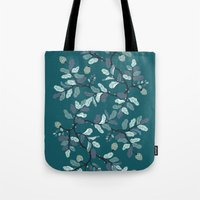 Frost Branches Tote Bag