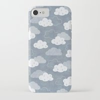 clouds iPhone & iPod Cases featuring RAIN CLOUDS by Daisy Beatrice