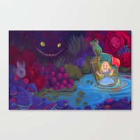 Alice in the Bottle Canvas Print