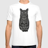 Sly Cat Mens Fitted Tee White SMALL