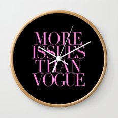 MORE ISSUES {PINK} Wall Clock