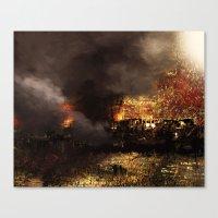 Schießpulver und Feuer im Nahen Osten Canvas Print