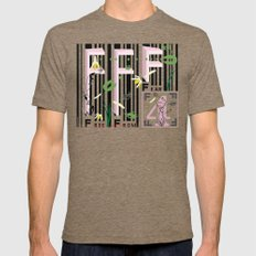 Four Freedoms Barcode Black Mens Fitted Tee Tri-Coffee SMALL