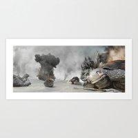 Turtle War Art Print