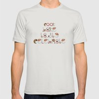 Cook Bake Taste Celebrate Mens Fitted Tee Silver SMALL