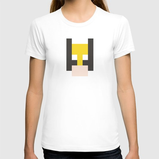 hero pixel yellow black flesh T-shirt