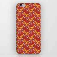 Flowers Red Pattern iPhone & iPod Skin