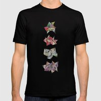 Spikey Friends Mens Fitted Tee Black SMALL
