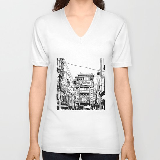 Yokohama - China town V-neck T-shirt