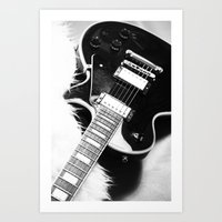 guitar Art Prints featuring Guitar by Falko Follert Art-FF77