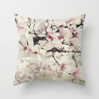 magnolia. Throw Pillow
