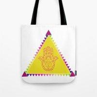 Merkaba Triangle Yellow Tote Bag