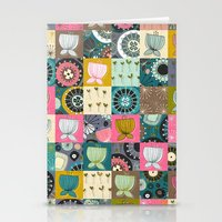 blooms patchwork Stationery Cards