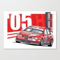 WTCC 2005 - Gabriele Tar… Canvas Print