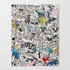 Kamasutra LOVE Doodle Closeup Color Canvas Print
